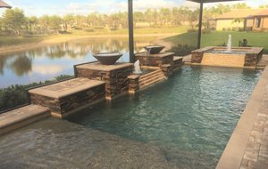 Custom Feature #111 by Fountain Pools and Water Features