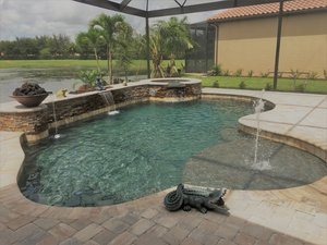 Residential Pool #069 by Fountain Pools and Water Features