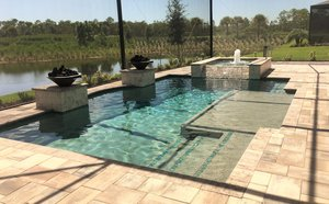 Residential Pool #070 by Fountain Pools and Water Features