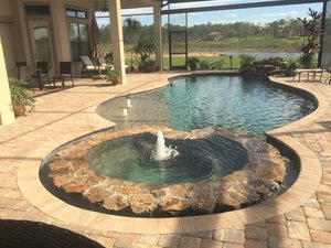 Residential Pool #075 by Fountain Pools and Water Features
