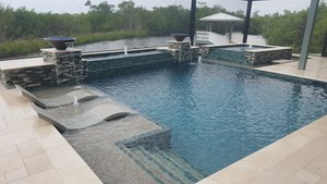 Residential Pool #077 by Fountain Pools and Water Features