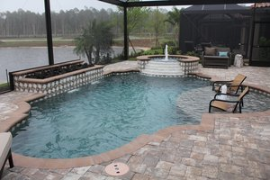 Residential Pool #082 by Fountain Pools and Water Features