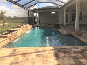 Residential Pool #088 by Fountain Pools and Water Features