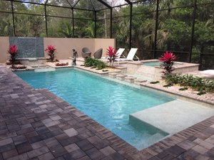 Residential Pool #102 by Fountain Pools and Water Features