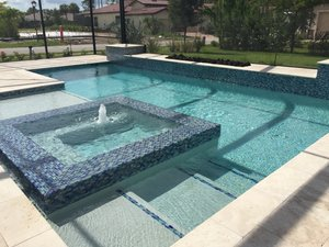 Residential Pool #105 by Fountain Pools and Water Features