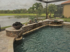 Custom Feature #102 by Fountain Pools and Water Features
