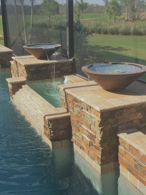 Custom Feature #109 by Fountain Pools and Water Features