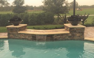 Custom Feature #123 by Fountain Pools and Water Features