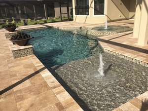 Residential Pool #097 by Fountain Pools and Water Features
