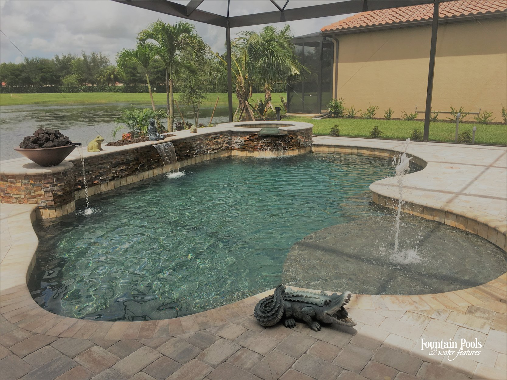 Residential Pool #069 By Fountain Pools And Water Features ...